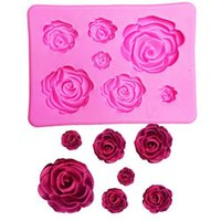 Wholesale 2018 New D Silicone Mold Rose Shape Mould For Soap Candy Chocolate Ice Flowers Cake decorating tools