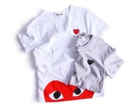 Wholesale Letter Couple Shirts - 099 wholesade Tide brand PLAY kanye hip hop variety of love heart printing short-sleeved men and women couples casual T shirt