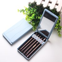 Wholesale blackhead needle resale online - 5Pcs Stainless Steel Gold Pimple Extractor Blackhead Remover Tool Blemish Comedone Acne Extractor Removal Needles Plastic Mirror Case