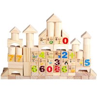Wholesale domino wholesale - Numbers Letter Wooden Building Blocks Toy Colorful Domino Printing Learning Toys Bricks Creative Children Early Education Gift 31xb YY