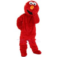 Wholesale Cheap Xxl Dresses - 2018 Free Shipping Sesame Street Blue Cookie Monster mascot costume Cheap Elmo Mascot Adult Character Costume Fancy Dress
