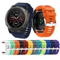 Wholesale quick watch - Sport Silicone Watch band Quick Fit Strap Watchband for Garmin Fenix 5X Fenix5X Strap Wristband