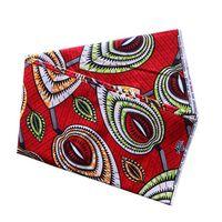 material de ropa africana al por mayor-cera africana 100% tela de algodón para la camisa de vestir bufanda de la ropa Material de costura hecha a mano bricolaje hoja roja