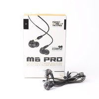 Wholesale detachable headphones - MEE Audio M6 PRO Noise Canceling 3.5mm HiFi In-Ear Monitors Earphones with Detachable Cables Sports Wired Headphones