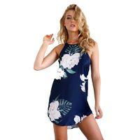 Wholesale clothing online - Women Clothing Beach Dresses Women Summer Mini Dress Digital Print Sling Dress Sleeveless Sundress Woman Clothes