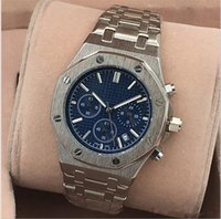 Wholesale Best Gold Watches For Men - All Subdials Work AAA Mens Watches Stainless Steel Quartz Wristwatches Stopwatch Luxury Watch Top Brand Relogies For Men Relojes Best Gift