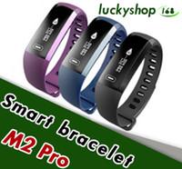 Wholesale Oxygen Black - M2 Pro Smart Wristband Fitness Tracker Bracelets Heart Rate Blood Pressure Watch Pulse Meter Oxygen Waterproof SMS Call Sport Band