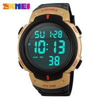 mesa multifuncion al por mayor-Multi-Function Electronic Watch Men's Luminous 50 Metros Deportes al aire libre impermeable Running Cycling Watch Trend Student Table