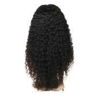 Wholesale crocheted wigs - Human Hair Wigs Brazilian Jerry Curly Crochet Hair 360 Full Lace Wig Virgin Human Hair Silk Base Full Lace Wig 150 Density