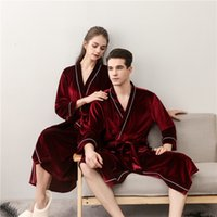 067987e9fb Spring Summer Fall Sleepwear Hotel Spa Bath Robe Nightgown Lovers Luxury  Pajamas Lightweight Kimono Robe For Men and Women - Comfy Longer Ba