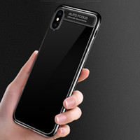 Wholesale case shin online – custom 2018 NEW Auto Focus ultra thin TPU Electroplated shinning combo shockproof case cover for iPhone Plus and iPhone X