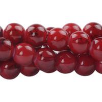 gemischte glasperlenstränge großhandel-4/6/8 / 10mm 1 Strang Tschechische Glas Runde Perlen Mix Painted Farbige Schnur für Schmuck Machen DIY Armbänder