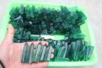 Wholesale Green Fluorite Crystal - 1pcs NATURAL green Fluorite QUARTZ CRYSTAL WAND POINT HEALING