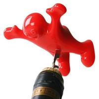 mutlu adam şarap tıpa toptan satış-Mutlu Adam Tirbuşon şarap şişe Açacağı İşlevli Paslanmaz Çelik Mantar Tıpa Tak Kırmızı Şarap Bira Soda şişe stoper