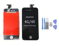 Wholesale Gsm Set - DIY Screen+repair tool set for iPhone LCD with Frame for iPhone 4 4S LCD CDMA GSM for iPhone 4 Screen Digitizer Assembly Display