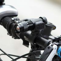 fahrrad lichter lumen großhandel-Fahrradlicht 7 Watt 2000 Lumen 3 Modus Q5 Fahrrad-LED-Taschenlampe Wasserdichte Lampe + Taschenlampe Halter Fahrradbeleuchtung Dropshipping