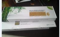combos clavier souris minces achat en gros de-Clavier sans fil multimédia en bambou et souris Combo 2.4G Bamboo protection de l'environnement en santé faible teneur en carbone confortable pour l'utilisation gratuite DHL