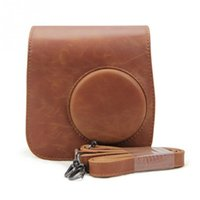 fuji mini venda por atacado-Novo Clássico Do Vintage De Couro Câmera Strap Bag Case Capa Bolsa Protector Para Câmera Polaroid Para Fuji Instax Mini 8