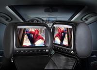 jogador de jogo digital venda por atacado-2 PCS 9 polegada monitor de encosto de cabeça do carro dvd player de vídeo digital tela Lcd com 1080 P USB SD FM IR Speaker Game preto para o banco traseiro do carro