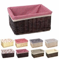 Wholesale Wicker Boxes - 8 Colors Storage Basket Rattan Belly Basket Natural Plant Toys Laundry Storage Container Home Decoration Garden Wicker