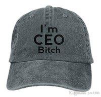 ingrosso cappello di cagna-pzx @ I'm CEO Bitch New Running Berretto da baseball con visiera unisex multicolore opzionale