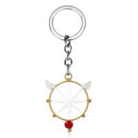Wholesale anime wand for sale - Group buy Fashion Anime Jewelry Card captor Cardcaptor Sakura Star Wings Wands Keychain Keyrings Bag Charm Car Key Chain for Women Girl
