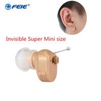 Wholesale best hearing aids online - HOT best sale Super Mini hidden Adjustable Hearing Aids Ear Sound Amplifier Volume Tone Listen Kit Hook In Ear Care fast shipping S A