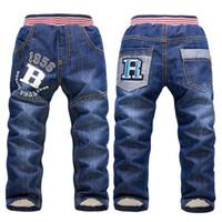 ingrosso jeans pant ragazzo nuovi stili-Pantaloni da bambino jeans ragazzo 2018 nuovo stile autunno inverno abbigliamento bambino più pantaloni di cotone addensato
