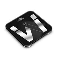akıllı ölçekli bluetooth toptan satış-Elektronik Akıllı Tartı Banyo Vücut Yağ Ölçeği Bascula Dijital Peso Onbaşı Dijital Mi Zemin Ölçekler Bluetooth