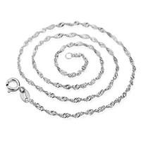 collier de chaîne d'argent de nickel achat en gros de-Chaînes de collier simples réglables de mode fermoir de homard, chaîne de colliers en argent sterling 925 sans plomb