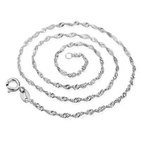 Wholesale nickel silver chain necklace for sale - Group buy Fashion Lobster Clasp Adjustable Simple Necklace Chains Lead Nickel Free Sterling Silver Necklaces Chain