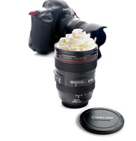 Wholesale Party Cameras - Fashion Camera Lens Cute Coffee Mugs 400ml Canons Cup 2 Generation Version Party Travel Drinkware Gifts for Photography Fans