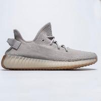ingrosso burro di qualità-Più nuovo statico Refective Kanye West semi di gomma burro congelato suola di alta qualità Zebra Red Sesame Uomo Donna Sneakers scarpe sportive con scatola
