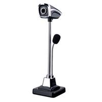 cmos pc toptan satış-2018 Yeni M800 USB 2.0 Kablolu Webcam PC Dizüstü 12 Milyon Piksel Video Kamera Ayarlanabilir Açı HD LED Gece Görüş Mikrofon Ile