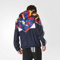 рекламная куртка оптовых-Модные мужские толстовки мужские куртки Дизайнерские толстовки Windbreaker Outdoor Sport AD Новый куртка для новобрачных Higt Quality Мужская молодежная одежда
