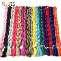 Wholesale kanekalon braiding hair free shipping for sale - long cm g synthetic Braiding Hair kanekalon Fiber Hair Extensions straight crochet hair