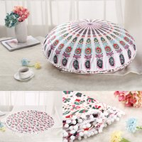 Wholesale cushion covers for sofa seats resale online - 45cm cm Round Plush Pillow Case Car Sofa Seat Cushion Cover European Style For Home Hotel DDA720 Outdoor Pats