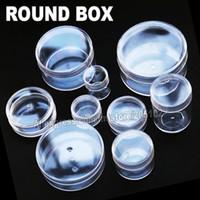 ingrosso contenitori di gioielli diy-Molte dimensioni Clear Round Box Custodia in plastica per Organizer DIY Strumento Nail Art Jewelry Accessorio perline pietre Artigianato contenitore di stoccaggio