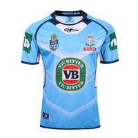 rugby blau großhandel-DLGLOBAL New South Wales Blues Rugby Trikot S-3XL