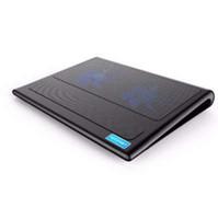 almohadillas de enfriamiento para computadoras al por mayor-TeckNet Laptop y Notebook Cooling Pad 2 Fans Laptop Cooler para 9 -16 pulgadas para computadora portátil PC Cooling Pad