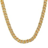 бриллиантовое жемчужное ожерелье оптовых-Хип-хоп мужчины кубинский звено цепи ожерелье ювелирные изделия мода полный горный хрусталь дизайн Звезда популярные кубинские ожерелье с цепи 60 см