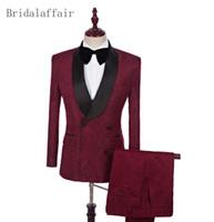 ingrosso migliori vestiti da partito-2018 Uomo Completo da uomo Giacche da uomo Abiti aderenti per uomo Migliore uomo (giacca + pantaloni) Abiti da cerimonia per feste da uomo personalizzati