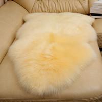 yüksek sandalye toptan satış-Yüksek kaliteli 100% saf koyun yünü sandalye minderi