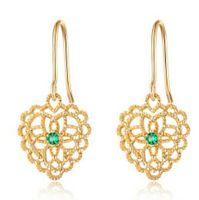 regalo de amante gratis al por mayor-Joyas de diseño para mujer color dorado clásico corazón simple flor como regalo para los amantes de la moda caliente libre de envío