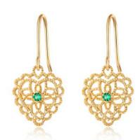 ingrosso regalo libero dell'amante-orecchini di gioielli di design per le donne di colore oro classico cuore semplice fiore come regalo per gli amanti della moda calda senza spese di spedizione
