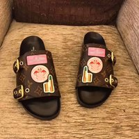 Wholesale wedding sandals flat - Luxury Designer Shoes Womens Sandals High Quality Flat Summer Women Casual Shoes Plus Size Real Picture
