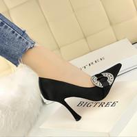 b6eed397fdd Fashion ultra high heel glass with satin shallow mouth pointed sexy slim  diamond rhinestone wedding shoes
