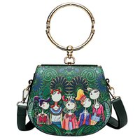 Wholesale forest green handbag for sale - Group buy Fashion Women Shoulder bags Forest Girls Pattern Printing luxury handbags women bags designer Hasp Ladies Metallic Circular bag