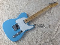 telecaster guitar bodies 2018 - Free shipping ! TELE solid body Guitars Telecaster Sky Blue color Electric Guitar in stock