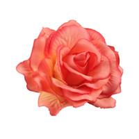 blumenhaarzusatzbroschen großhandel-Hochzeit Braut Rose Blume Haarspange Flamenco Tänzerin Pin up Blumen Brosche Brautjungfer Beach Party Urlaub Haarnadel Zubehör
